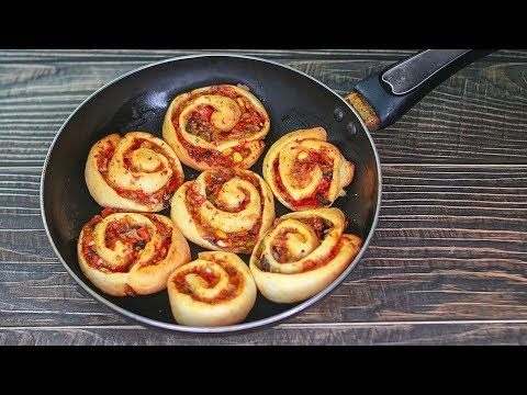 Pizza Roll In Pan | Pizza Pinwheel Recipe | Mini Pizza | Easy Snacks Recipe | Toasted