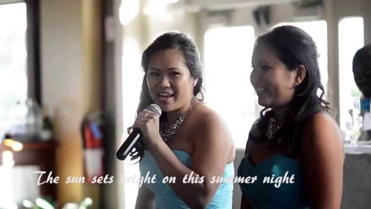 Bridesmaids Sing Epic Wedding Speech For Sister A Rendition Of Let It Go Disneys Frozen