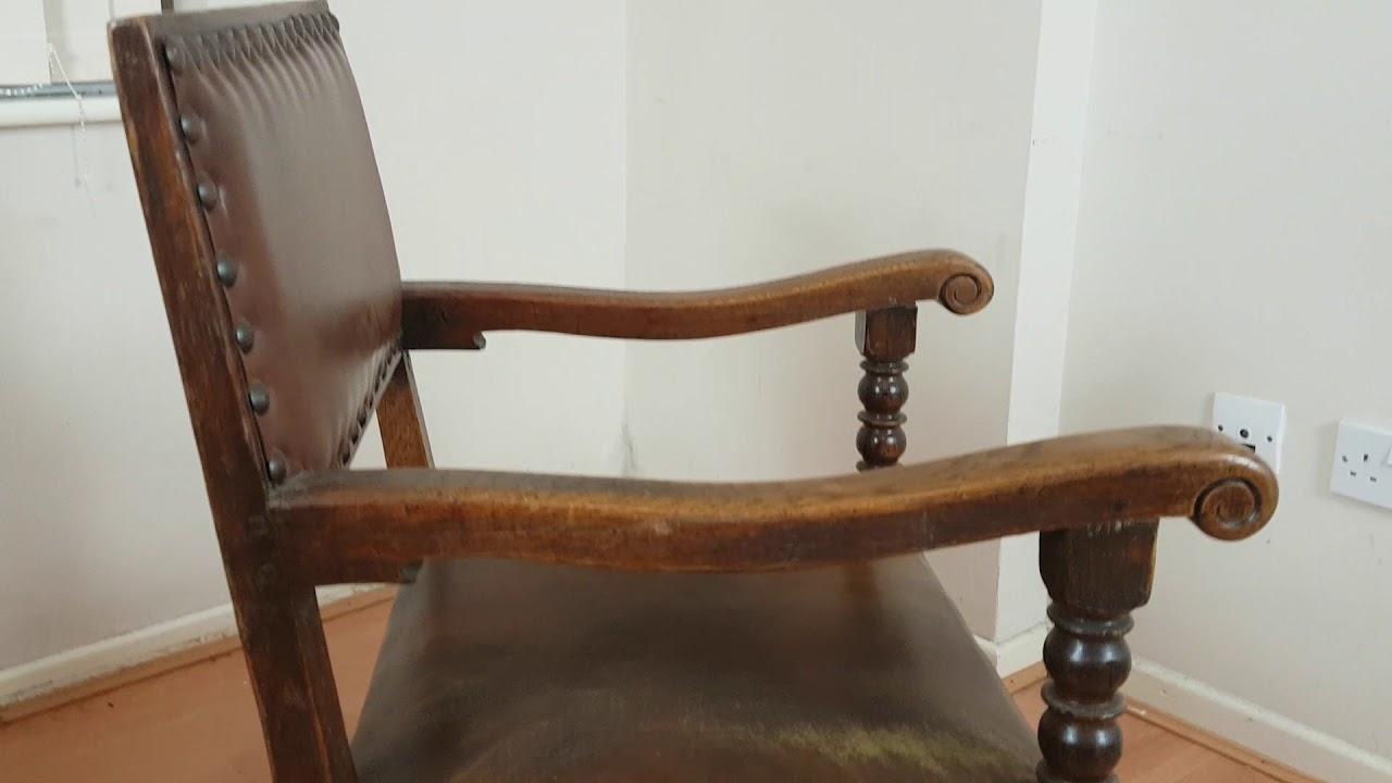 Antique Oak Jacobean Style Side Coffee Table