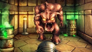 Doom - Pinky Demon Blocks the Exit - Photoshop Speed Art