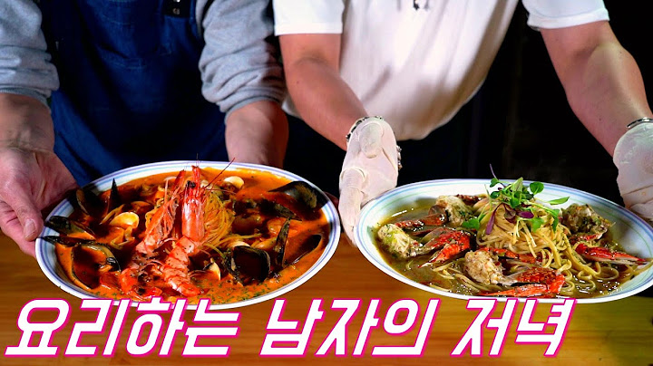 요리하는 남자둘의 간단한 저녁식사/Steak/Pasta/potato