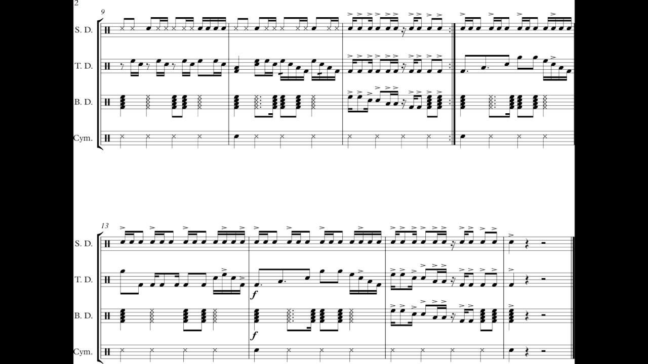 basic beats drumline cadence easy youtube