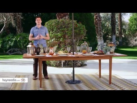 Belham Living Brighton Extension Outdoor Dining Table - Natural - Product Review Video
