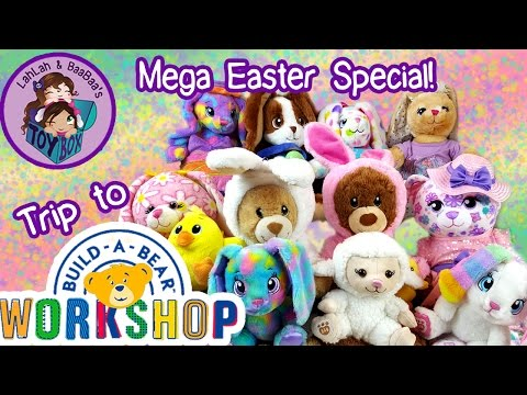 Let's Build Easter Bunnies! ~ Trip To Build-A-Bear Workshop, Mega Haul Of Bunnies, Time For Tea Bear