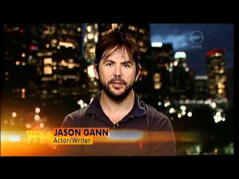Wilfred star Jason Gann  on The 7pm Project Australia