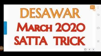 Desawar lifetime satta trick for March