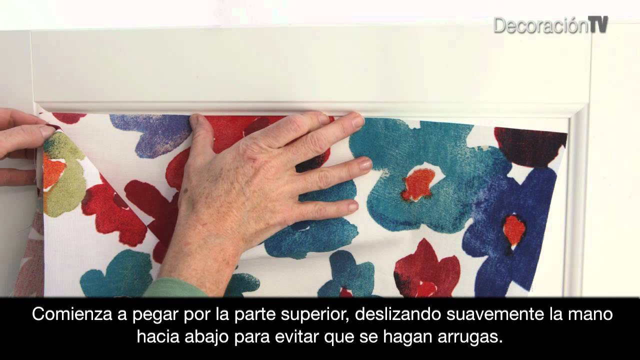 Un armario muy florido manualidades youtube for Papel pintado para puertas de armario