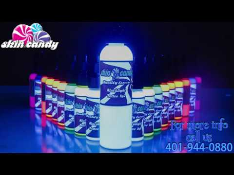 We now use Skin Candy Black Light / UV Tattoo Ink!