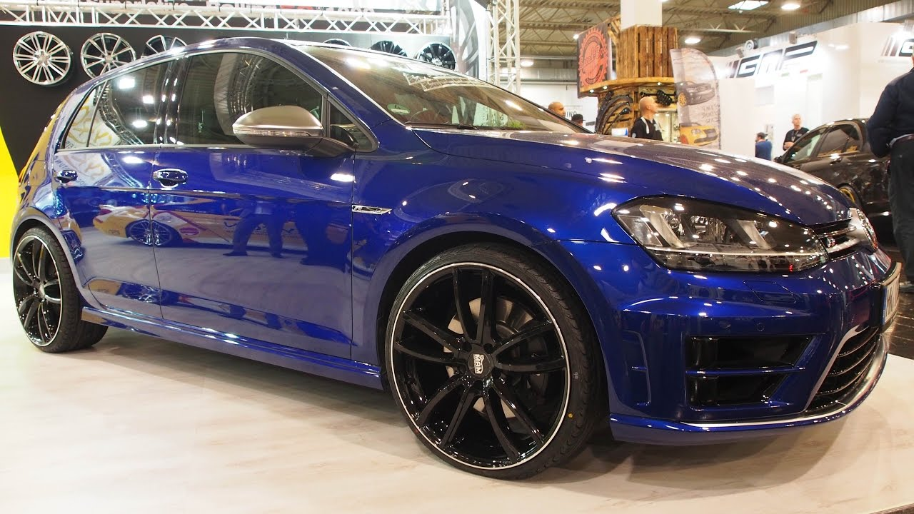 volkswagen golf 7r blue with tuning rims mam youtube. Black Bedroom Furniture Sets. Home Design Ideas