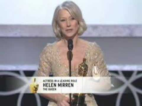 Helen Mirren winning an Oscar® for