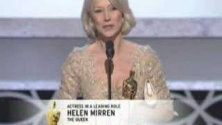 "Helen Mirren winning an Oscar® for ""The Queen"""