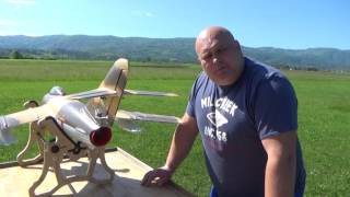 Mig 17 RC Lander 90mm EDF jet Maiden flight