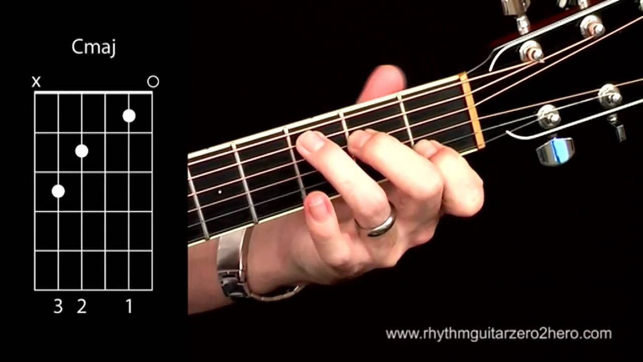 Acoustic guitar chords learn to play c major youtube hexwebz Gallery