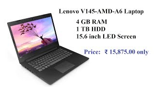 Lenovo V145 AMD A6 15 6 inch HD Thin and Light Laptop details, reviews, etc | Budget Laptops