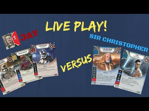 Star Wars Destiny Live Play 10 and Commentary! ePhasma/Guavian/Trooper vrs. eObi wan/Rey