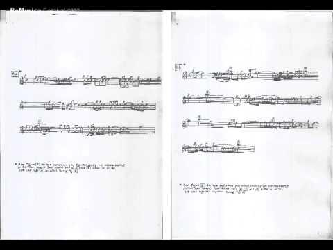 Michael Finissy YSO for clarinet & violin - based on Albanian folk music / ReMusica 2007