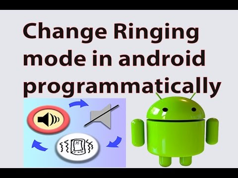 How to change Ringing mode in android programmatically using android Studio