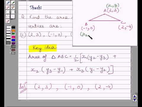 Examplefind triangle area for given coordinates of vertices youtube examplefind triangle area for given coordinates of vertices ccuart Choice Image