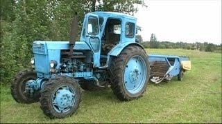 Трактор Т-40 и картофеля копалка