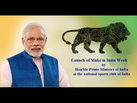 Launch of Make in India Week