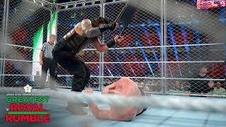 Roman Reigns belts Brock Lesnar with multiple steel chair strikes: Greatest Royal Rumble