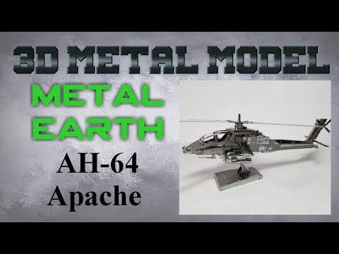 Metal Earth Build - AH-64 Apache