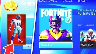 NEW SKIN OF THE FORTNITE-AMERICAN FOOTBALL (NFL) VERSION