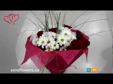 Букет Шик. Букет на День Влюбленных. Sendflowers.ua