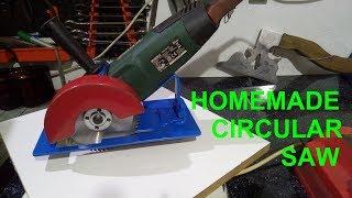 Homemade circular saw from angle grinder / Pilarka tarczowa ze szlifierki kątowej