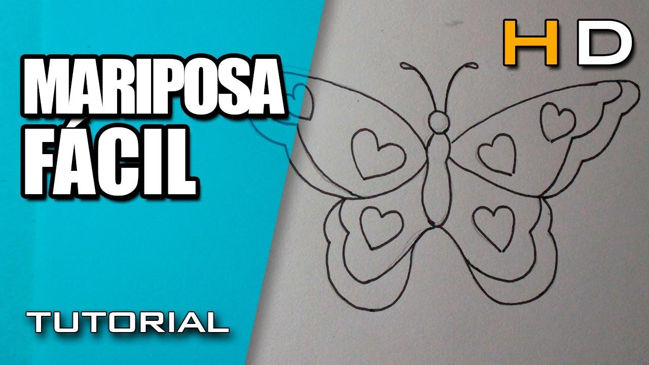 Como Dibujar Una Mariposa Facil Y Bonita Paso A Paso