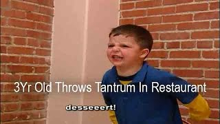 3Yr Old Throws Tantrum In Restaurant When He Can't Have Dessert | Supernanny USA