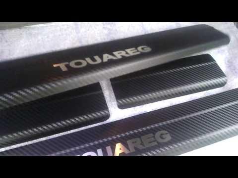 Накладки на пороги Volkswagen TOUAREG 2 с 2010 Premium Карбон
