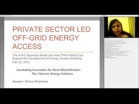 Incubating Innovation for Rural Off-Grid Electrification: Presenting the Telecom-Energy Initiative