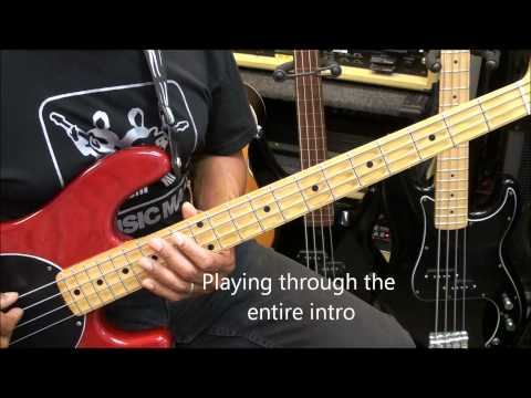 Gorillaz FEEL GOOD INC. Bass Guitar Lesson Standard Tuning EricBlackmonMusic HD