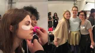 Backstage at Charlotte Ronson NYFW with Skyn Iceland Thumbnail