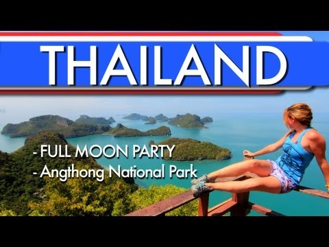 Travel Thailand - FULL MOON PARTY and Angthong Nation Park