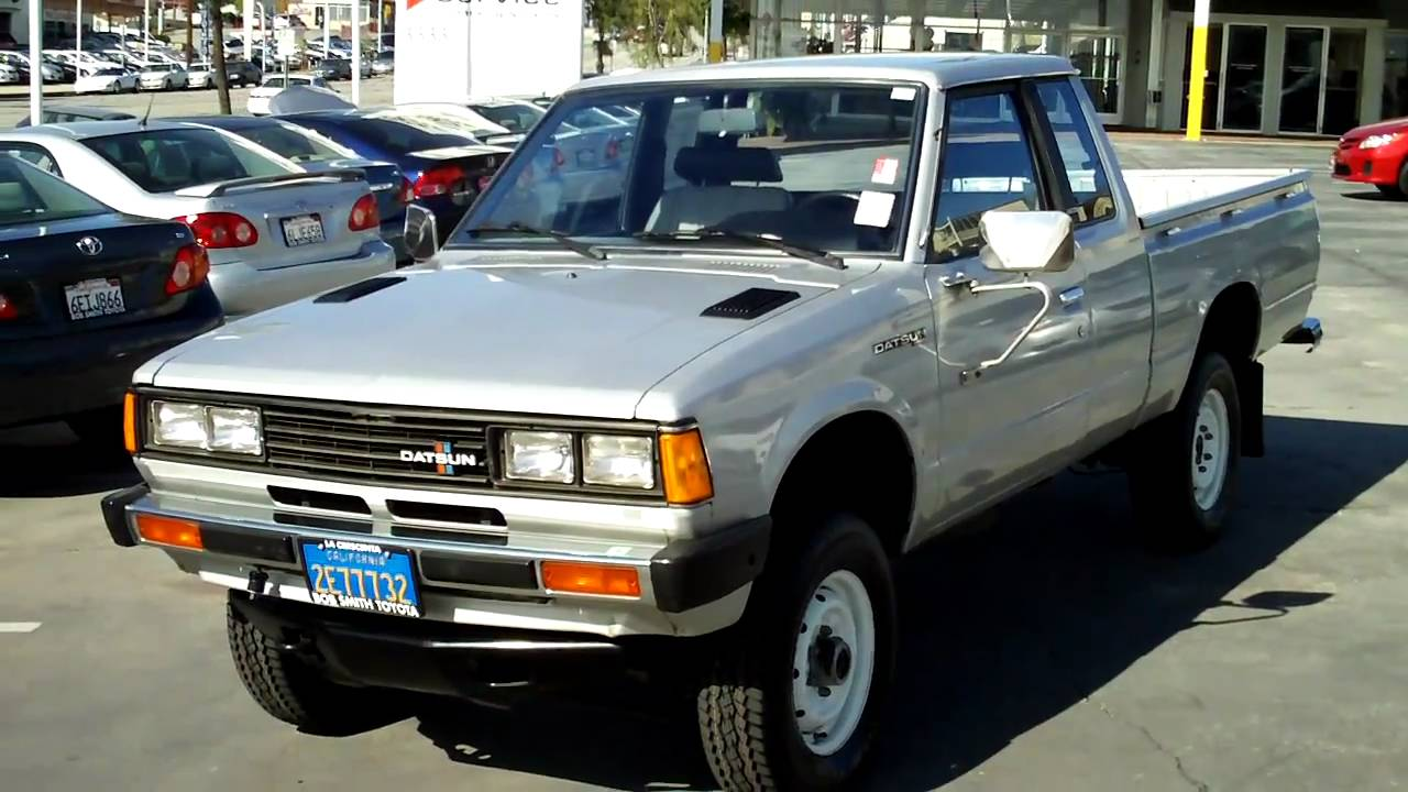 1982 datsun pickup 38k original miles 4x4 4cyl bob smith toyota youtube. Black Bedroom Furniture Sets. Home Design Ideas