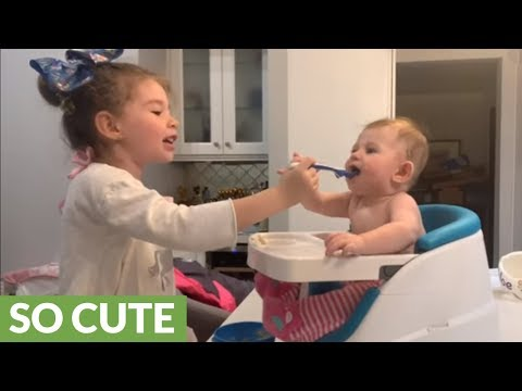 Joey Brooks - Baby Girl LOVES Being Fed By Her Big Sister