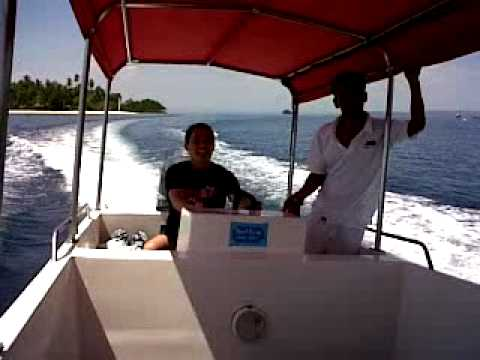 at Davao Gulf , island hopping with a Speed Boat ......
