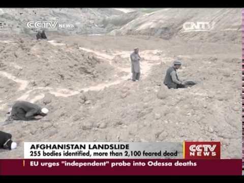 Afghan landslide rescue focuses on displaced families   CCTV News   CCTV com English