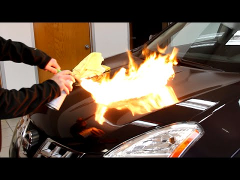 Auto Armor Paint Protection Torture Test - Black Spray Paint & Fire ...