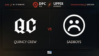 Quincy Crew vs Sadboys, Dota Pro Circuit 2021: S1 - NA, bo3, game 2 [Lex \u0026 Adekvat]