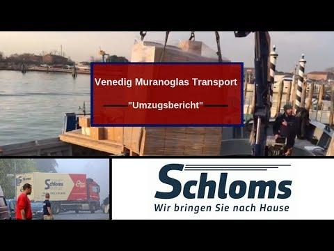 Transport Muranoglas Venedig-Hannover Schloms Umzüge