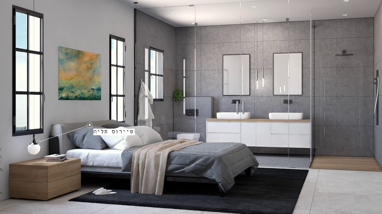 Temssi   InDoor Visualization   Koral   BedRoom   הדמיות אדריכליות  תמסי