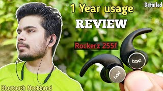 Boat rockerz 255F bluetooth earphone one YEAR usage Review | Boat bluetooth neckband | extra bass ?