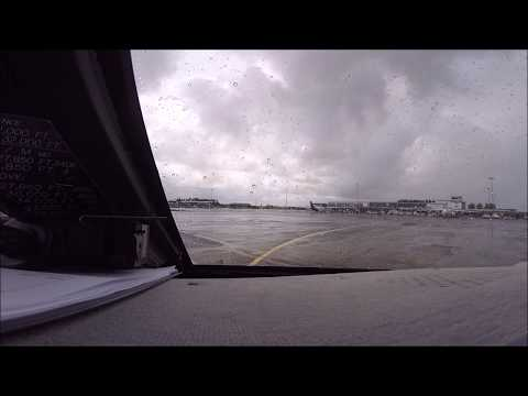 Gulfstream IV-SP Cockpit Wet Takeoff Shannon EINN with ATC Audio
