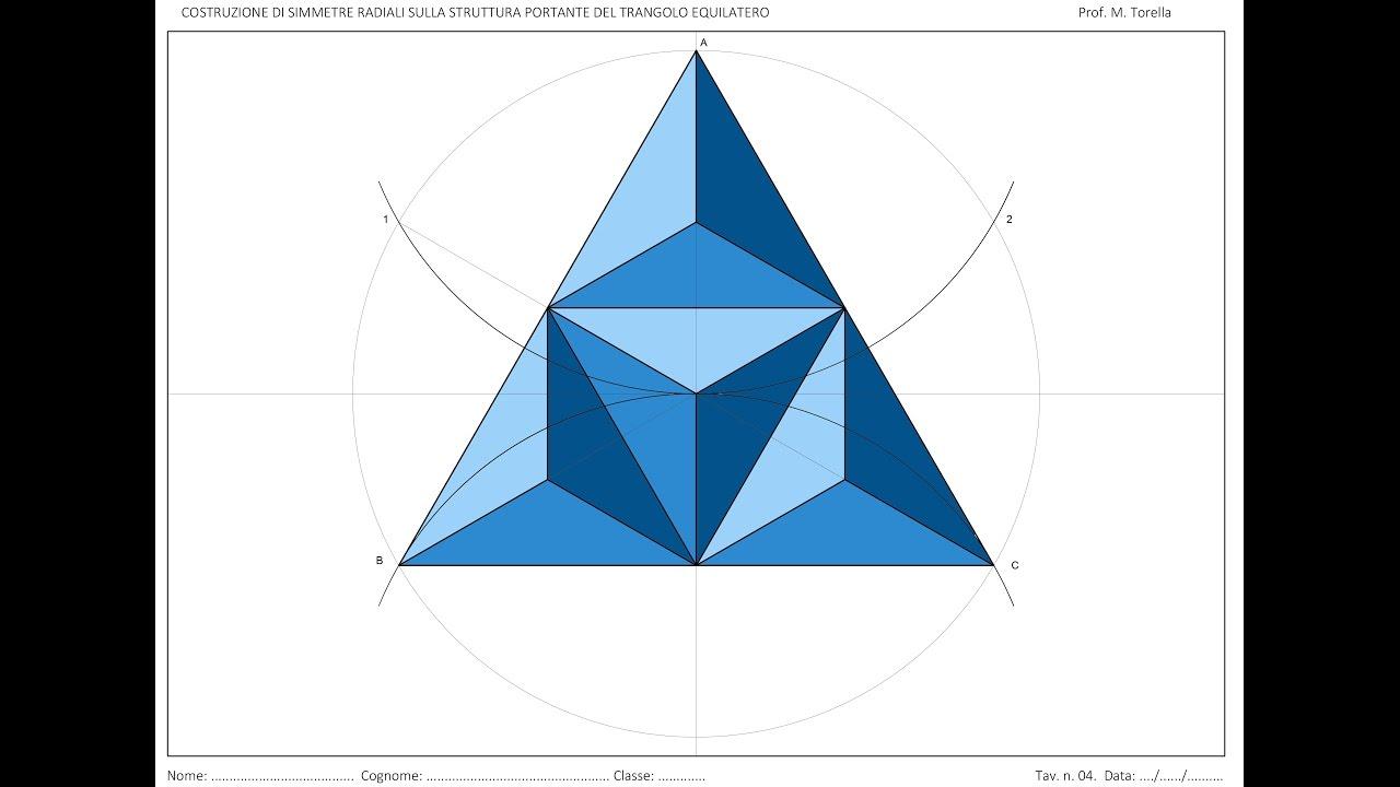 Tavola 4 Classi Prime Simmetrie Sul Triangolo Equilatero Youtube
