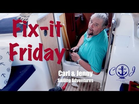 Fix it Friday - Water leak on board - Carl and Jenny