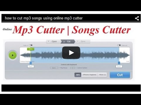 how to cut mp3 songs using online mp3 cutter
