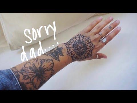 I got my hand tattooed
